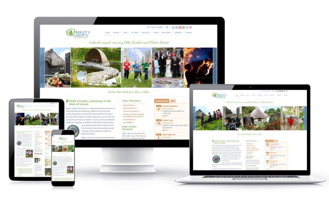 Visitor centre tourist garden responsive web design for Garden design websites