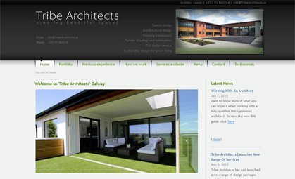 Web Design for Tribe Architects